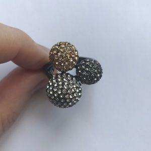 Stella & Dot Soirée Trio Ring